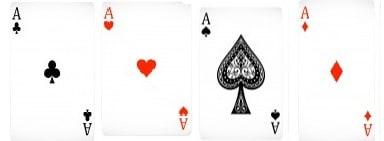 Quadra de Ases Jogada de Poker