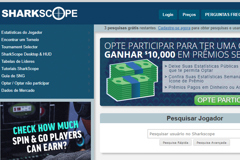 SharkScope – Como melhorar no Poker Online usando suas próprias estatísticas